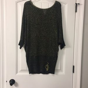 BABYPHAT BLACK/GOLD SWEATER